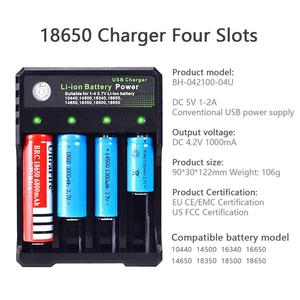 Image 2 - USB 18650 סוללה מטען עבור 3.7V ליתיום TR IMR 14500 16650 14650 18350 18500 16340 18650 סוללה נטענת