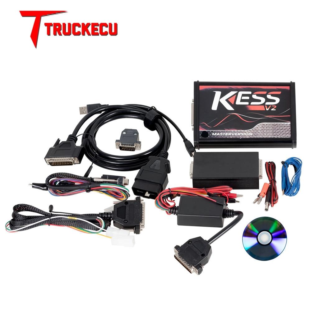 KESS V2 V2.47 V5.017 EU Rot ECM Titan KTAG V2.25 V7.020 4 LED Online Master Version BDM Rahmen ECU OBD2 auto/lkw Programmierer