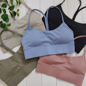 GYMFEVER Y-Type Sport Bra Plus Size XL XXL Fitness Crop Tops Workout Women Yago Bra Back Gathering Yoga Sports Bra for Woman