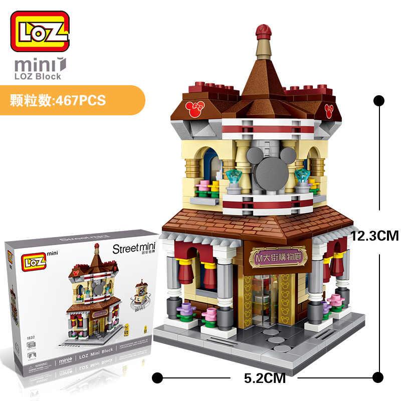 Loz Mini Blok Stad Bouwstenen Schepper Winkelen Gallery Modellen Kits Speelgoed Hobby Bricks Assemblage Speelgoed Voor Kinderen Diy 1632