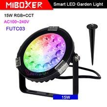 Miboxer 15W RGB+CCT Smart LED Garden Light FUTC03 AC100~240V IP65 Waterproof led Outdoor lamp Garden Lighting