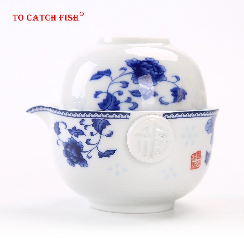 Ceramics Tea set Include 1 Pot 1 Cup  High quality elegant gaiwan Beautiful and easy teapot kettle kung fu teaset|tea set|ceramic tea set|tea pot set - title=