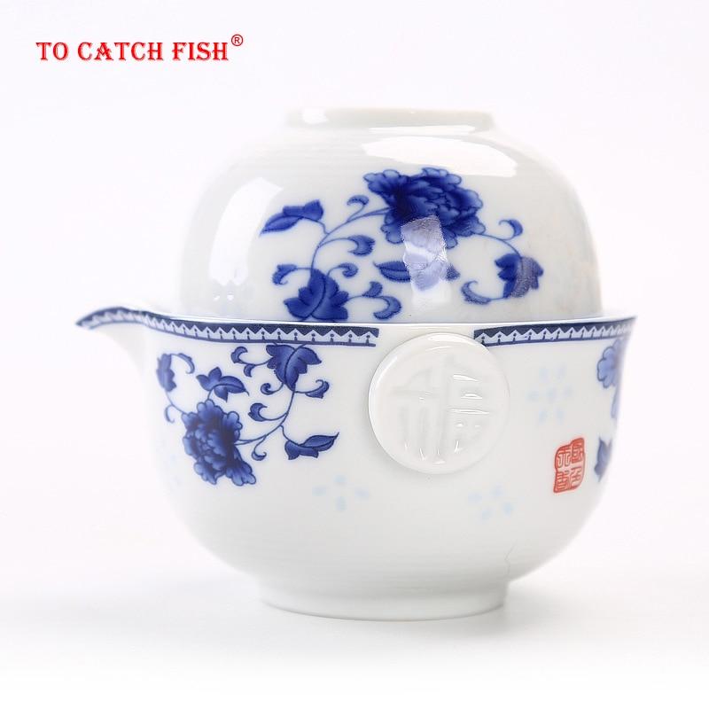 Ceramics Tea Set Include 1 Pot 1 Cup, High Quality Elegant Gaiwan,Beautiful And Easy Teapot Kettle,kung Fu Teaset
