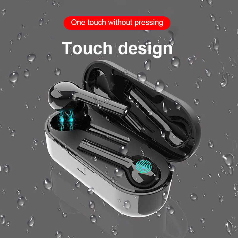 Mini Nirkabel Bluetooth Earphone Earbud Freebud Headphone dengan Super Bass MIC Kontrol Sentuh Sport Headset untuk Iphone Huawei