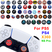 1pcs Thumb Stick Grip Cap ABXY Home Logo Joystick Cover Case For PS5 PS4 PS3 Xbox One