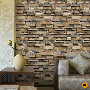 45*100cm Bricks Pattern Wall stickers Home Bedroom Decoration Environmental Protection Waterproof Vinyl Wallpaper 11