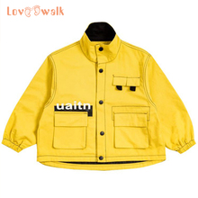 Clothing Jacket Trench-Coat Windbreaker Boys Children's Warm Fashion for Cool Male Kids