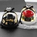 Лидер продаж, бесплатная доставка, настоящие розы в колбе, стеклянный купол, настоящая Роза, Красавица и чудовище, вечный консервированный п...
