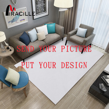 Miracille Customized Coral Fleece Floor Mat Bath Decor Anti Slip Door with Your Image Carpets Large Size for Home