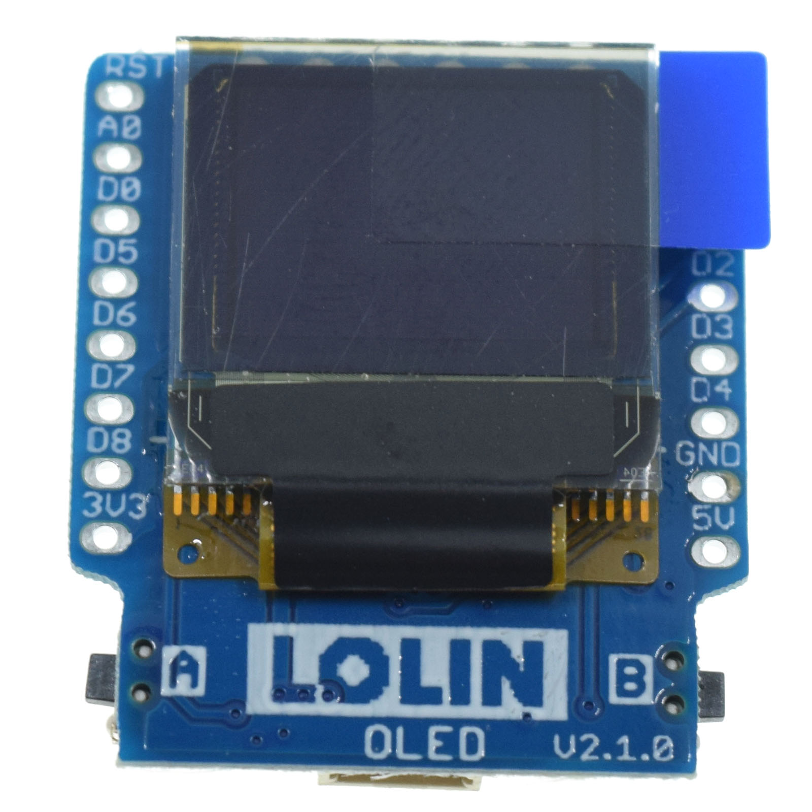 "OLED Shield V2.0.0 for WeMos D1 mini 0.66"" inch 64X48 IIC I2C two button"
