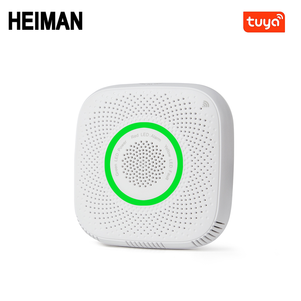 Tuya  WiFi Gas Lpg Leak Alarm Home Security High Sensitive Detector For Fire Sensor For Mobile Phone Remote Control