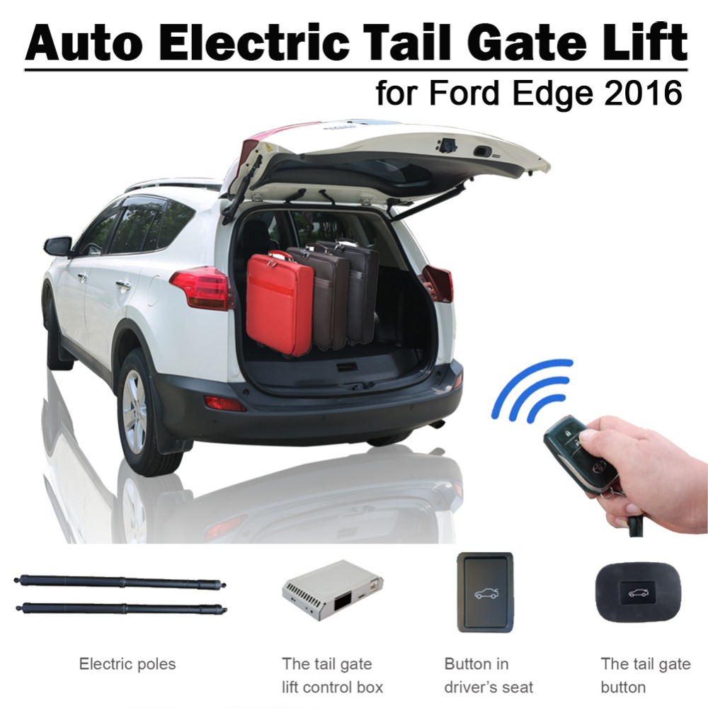 Smart Auto Electric Tail Gate Lift For Ford Edge 2016 Remote Control Drive Seat Button Control Set Height Avoid Pinch