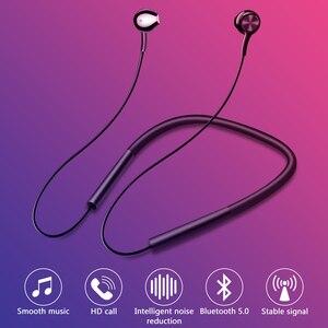 Image 3 - Écouteurs Bluetooth, écouteurs mains libres sportifs, écouteurs sans fil, casque magnétique avec Microphone pour téléphones portables Xiaomi