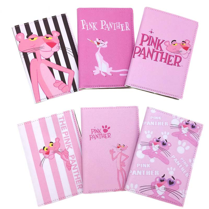 Cute THE PINK PANTHER Travel Passport Case ID Card Cover Passport Holder Protector Organizer Travel Super Quality Card Holder