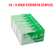 1box 24/6 Staples Standard Universal Needle Boxed Office Learning Storage Binding Staples universal office series 24 6 steel staples silver