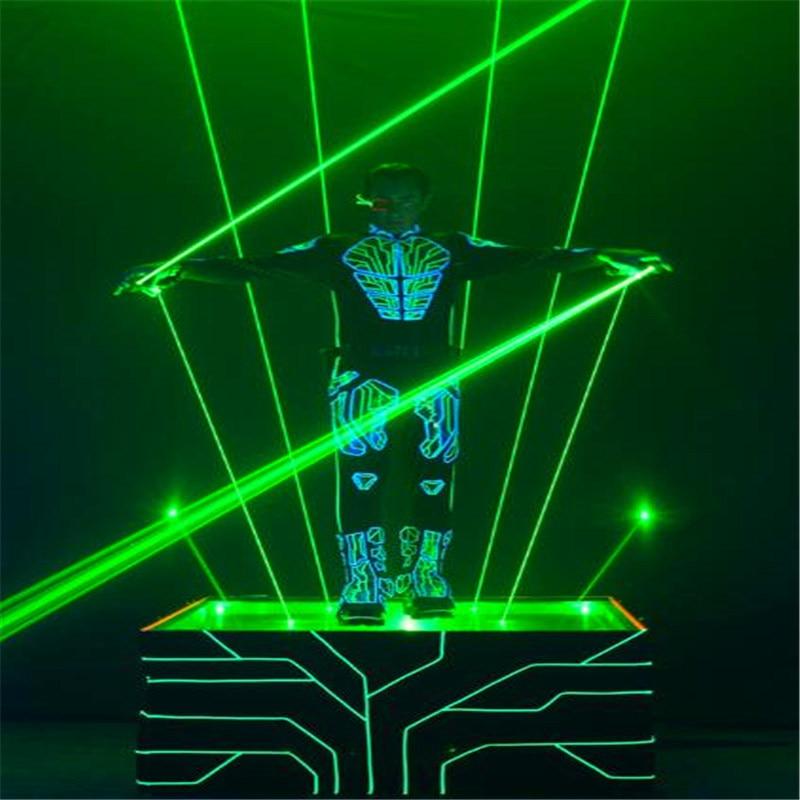 Vert 100mW Laser À Main Épée Pour le Club de Disco Laser Homme Spectacle à Double Tête De Faisceau Large Double Stylo Laser