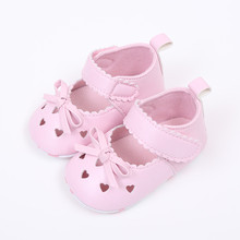2021 New Newborn Infant Baby Girls Crib Shoes Soft Sole Anti-slip Sneakers Bowknot Shoes Girl Baby Sandals Flat Shoes