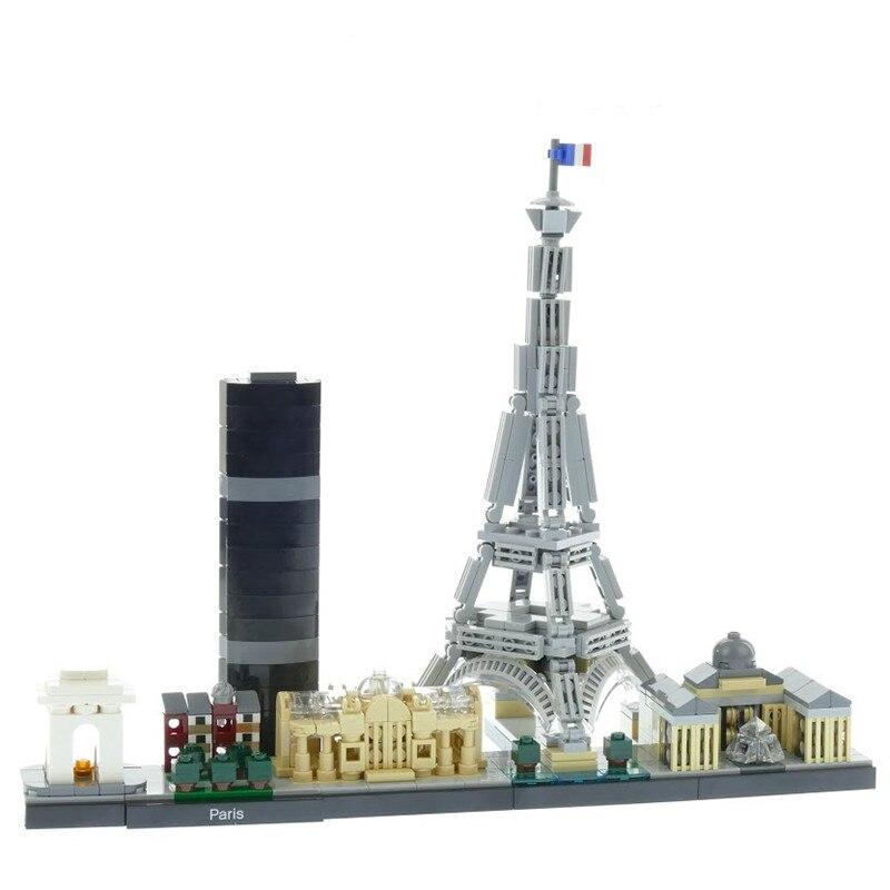 777PCS Architektur Paris Bausteine City Berühmte Modell Bricks Spielzeug Kompatibel Legoinglys Stadt 21044 17015