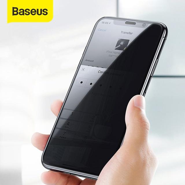 Baseus אנטי Glare מגן זכוכית עבור iPhone XR Xs מקסימום מסך מגן 0.3mm 3D מלא כיסוי מזג זכוכית עבור iPhone X Xs