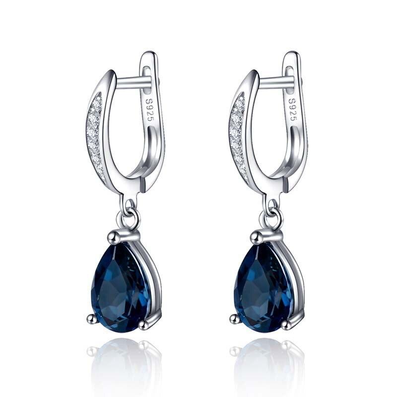 Modyle lindo gota de água forma azul zircônia cúbica gota brincos para festa à noite feminino elegante acessórios clássico jóias