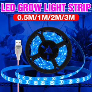 LED Plant Grow Light Strip 0.5M 1M 2M 3M USB Phyto Lamp LED Full Spectrum Flower Seed Growth Light LED Indoor Hydroponics Lampy