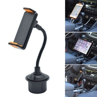 Car Vehicle Drinks Cup Holder Phone Mount Holder 360 Degree Rotatable Cradle with Longer Neck for mobile phone and tablet Tablet Stands     -