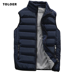 Mens Jacket Sleeveless Vest Winter Fashion Casual Slim Coats Brand Clothing Cotton-Padded Men's Vest Men Waistcoat Big Size 5XL
