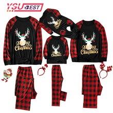 Семейный Рождественский Пижамный костюм г. Футболка для маленьких мальчиков и девочек топы и штаны Семейные пижамы одежда для сна рождественские наряды рождественские пижамы