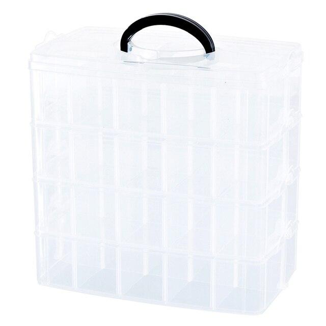 Lego Building Blocks storage Box Plastic Transparent 6