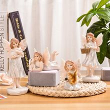 Scandinavian Style Creative Home Decoration Living Room Ins Decorative Angel Home Decoration Accessories Fairy Garden Miniatures european angel ornaments living room decorations ornaments cute angel for home decoration accessories fairy garden miniatures