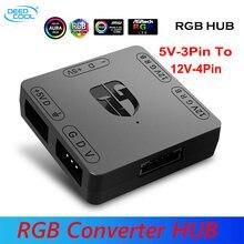 Конвертер deepcool rgb 5 в 12 В usb хаб с интерфейсом sata магнитная