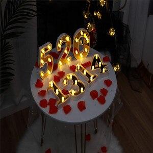 Image 5 - Veilleuse en lettres dor INS LED Alphabet et nombres, décoration pour anniversaire, mariage, saint valentin, 26 lettres anglaises