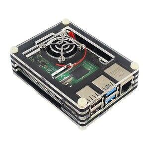 Image 4 - פטל Pi 4 דגם B Starter kit 2/4G RAM 2.4G & 5G WiFi Bluetooth 5.0 מיקרו HDMI Calbe + אקריליק מקרה + אספקת חשמל עבור Pi 4