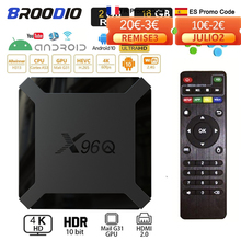 外部セットトップボックスSmartTV Android 10 x96q,4K,8GB,16GB,wifi 2.4g,allwinner h313,TVレシーバー