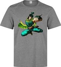 T-shirt gris Jojos Bizzare Adventure Battle Tendancy james Joestar pour hommes (3)