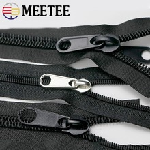 1M 8#10# Plastic Nylon Zippers Black Open End Long Zip for Outdoor Tent Zipper DIY Tailor Sewing Craft Bag Clothes Accessories