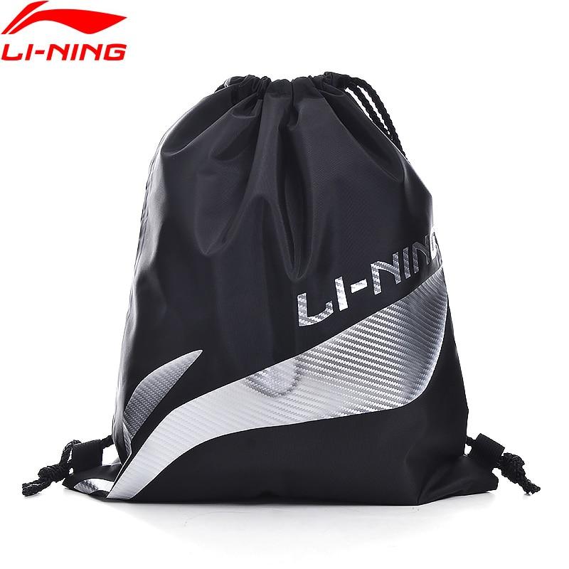 Li-ning Unisex hombres mujeres zapatos bolsa plegable ajustable gran capacidad forro deportes mochila ABLQ013/ABLQ184 ZYF363