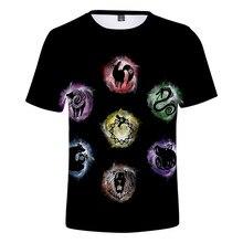 Camisetas negras con nuevo estampado 3D para niños y niñas, camiseta de Seven Deadly Sins, camiseta de cómic de Hip-Hop para niños y niñas, camiseta informal 3D de verano