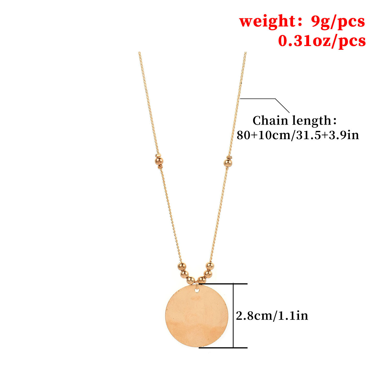 Trendy Street Round Sequins Beads Tassel Long Chain Necklace Pendant Ladies Party Elegant Clavicle Statement Necklaces for Women