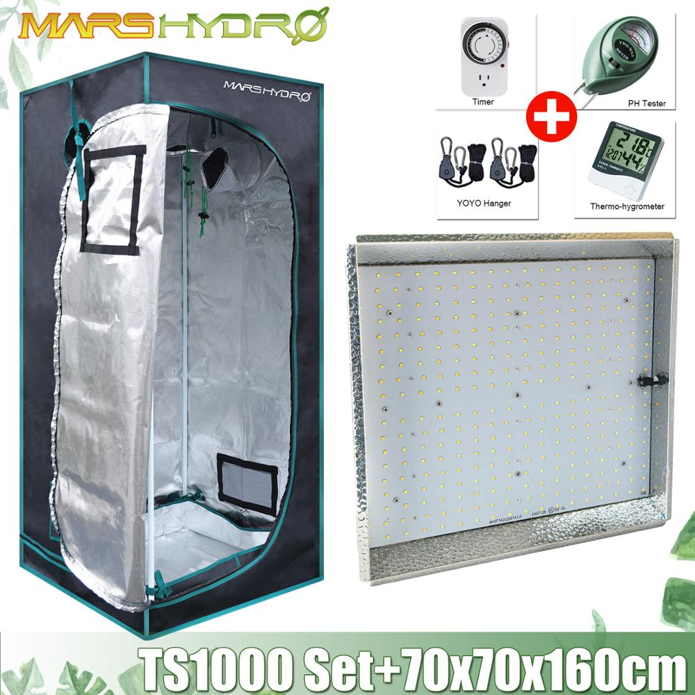 Mars Hydro TS 1000W Set LED Grow Light + 70x70x160cm Grow Tent Box Combo Kits Hydroponics