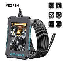 """8mm Endoscope Camera IP67 Waterproof Industrial Borescope with 4.3"""" HD Screen LED Pipe Inspection Camera Hard Cable Endoscope"""