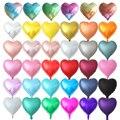 10 шт 18 дюймов мульти розовое золото сердце фольги Воздушные шары металлические гелиевые глобусы Свадебные украшения девушки день рождения ...