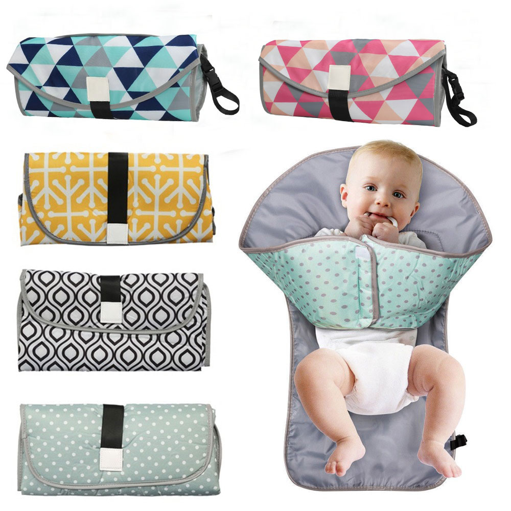 Multifunctional Baby Changing Mat Waterproof Portable Foldable Changing Pads Travel Outdoor Diapers Nappy Bag Changing Cover