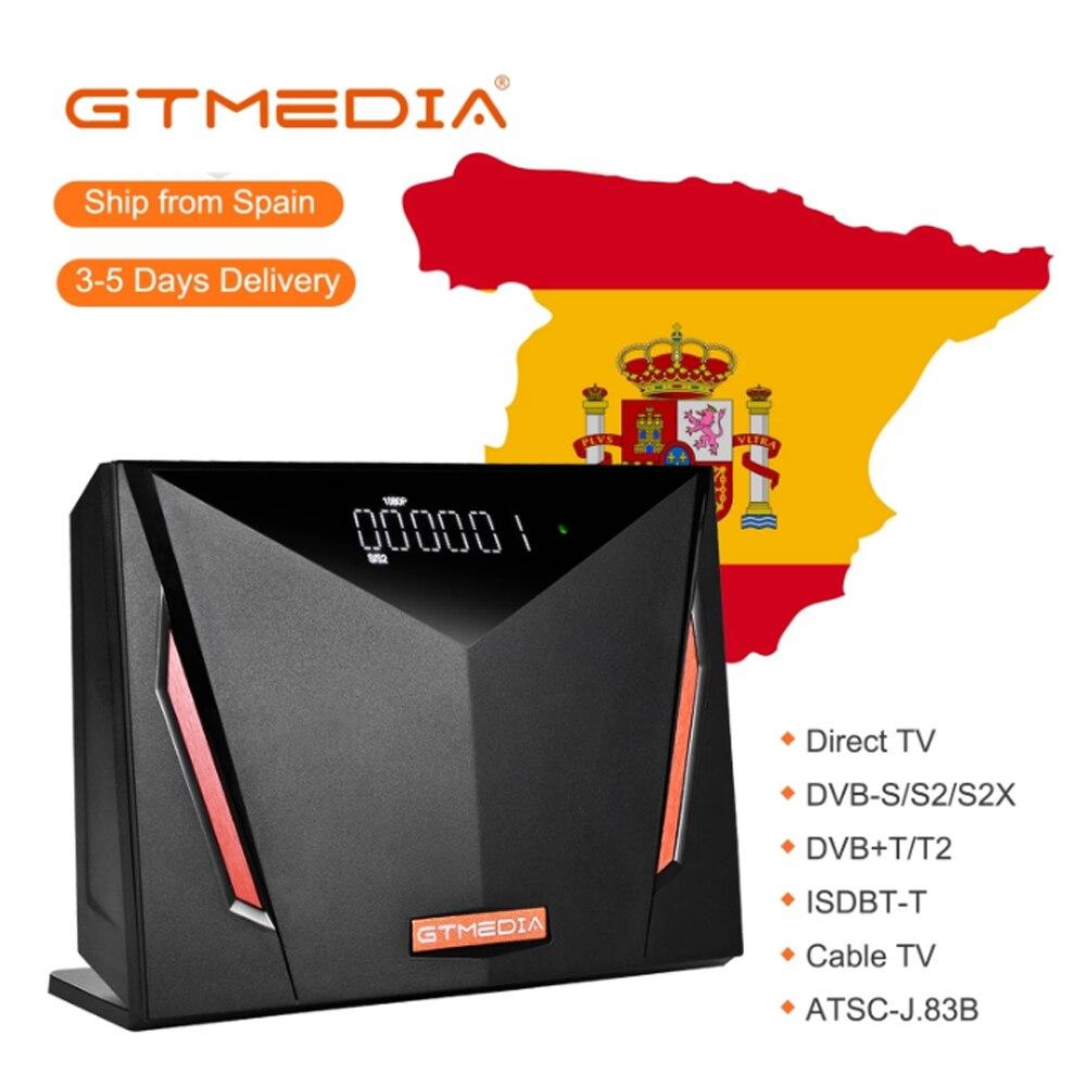 Novo gtmedia v8 uhd DVB-S2 4k receptor de satélite builtin wi-fi válido T2-MI h.265 1080p nenhum aplicativo incluído