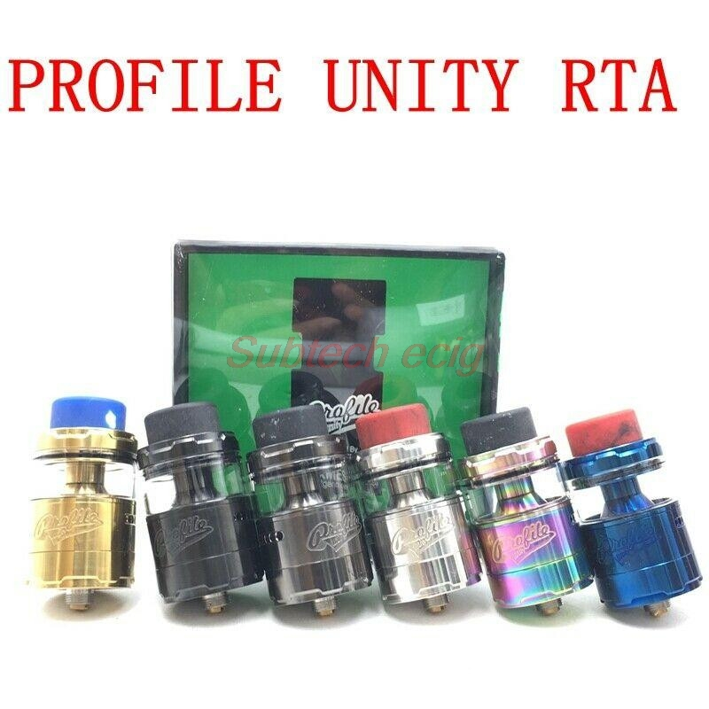 Profile Unity RTA Atomizer Top Filling Tank Drip Tip Adopts Fairly Thick Resin 25mm 3.5ml/5ml Capcity Tank With Mesh Coils Vape