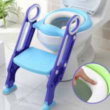 3 Colors Baby Potty Training Seat Children's Potty Baby Toilet Seat With Adjustable Ladder Infant Toilet Training Folding Seat baby toilet seat folding children toddler potty toilet chair trainer with safety adjustable ladder step stools toilet training
