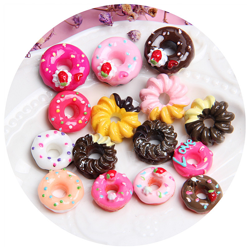 Miniature Mini Food Fruits And Vegetables Kitchen Toys Donut Food Simulation Candy Toy For Doll Children Kitchen Girls Toys E