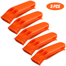 Emergency Multifunction Equipment kit Plastic Outdoor Camp Hiking Survival Loud Whistle Sports Match Dual Band Whistle
