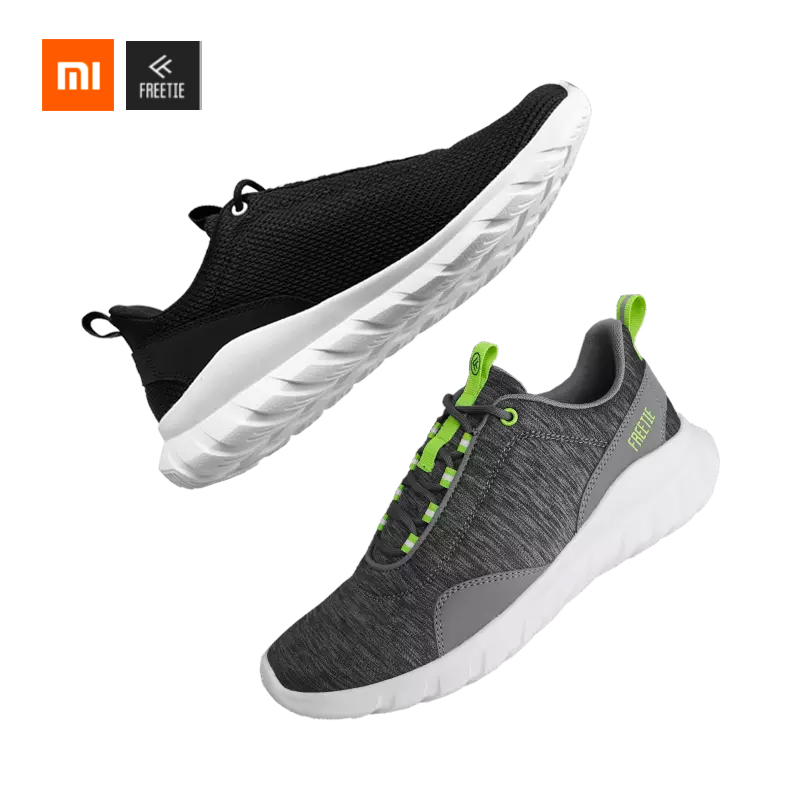 Xiaomi MIJIA EUR39-44 Plus Size Sports Shoes Shock Absorber Freetie Casual Breathable Running Women Men Sports Sneakers