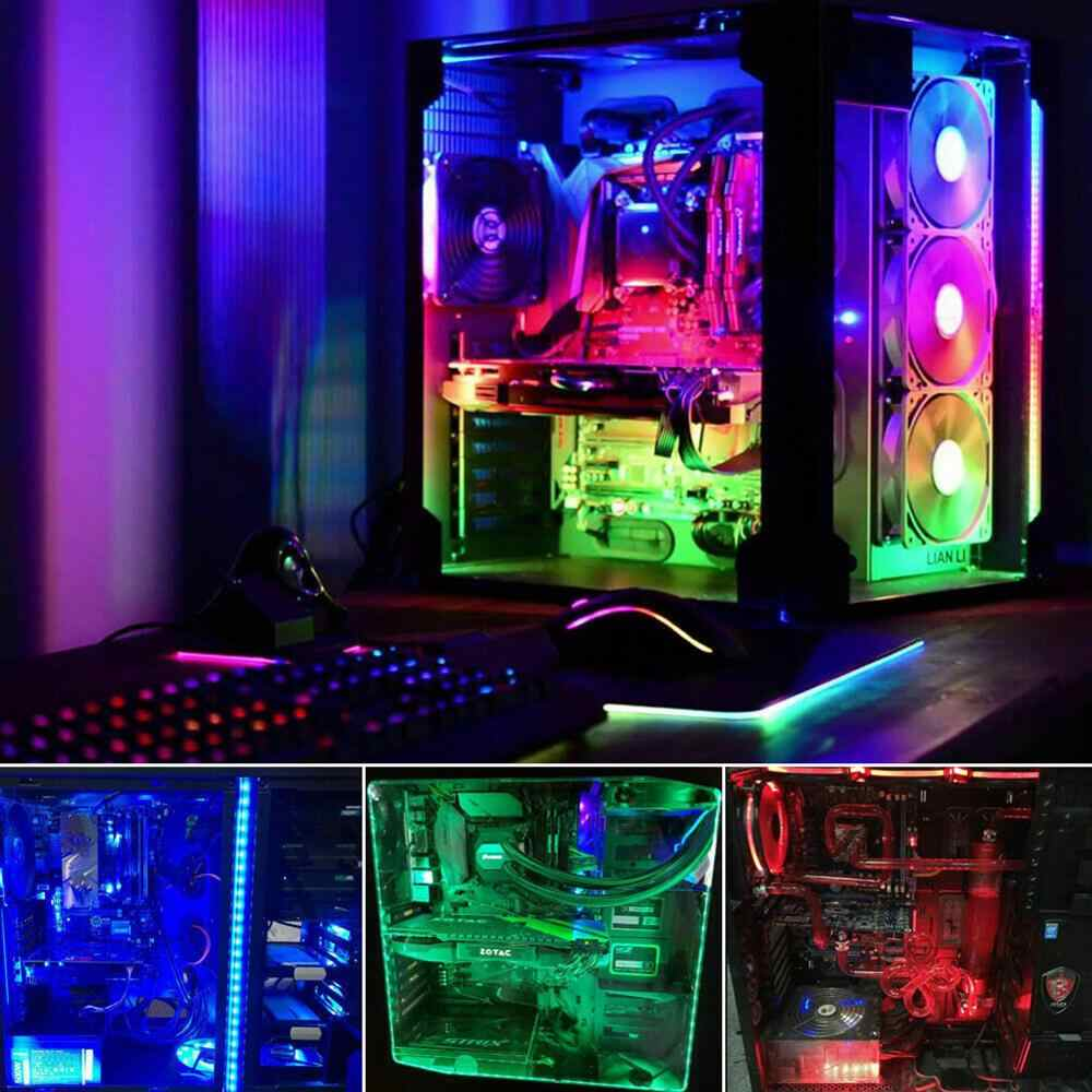 Top Quality PC RGB Gaming LED Chips Strip Lights Case Lighting Gamer DIY  For Aura Sync Wholesale Quick delivery Dropshipping|Decorative Lamp| -  AliExpress